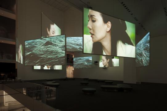 Image: Isaac Julien, Ten Thousand Waves (2010), nine-screen installation view, Museum of Modern Art, New York, 2013-14